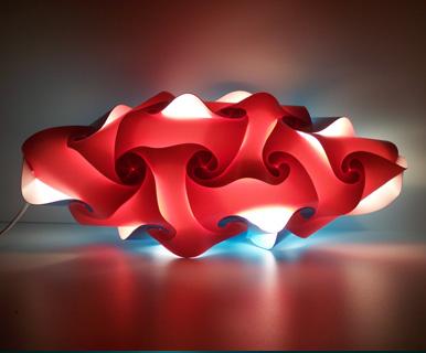 abat jour sospese : foto 1 abatjour da terra colorata rossa foto 2 lampada moderna da ...